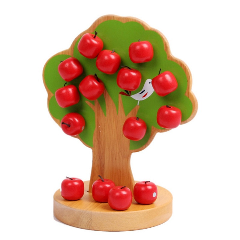 sukitoy wooden montessori educational math toys magnetic apple tree japan brand for children boys girls gift
