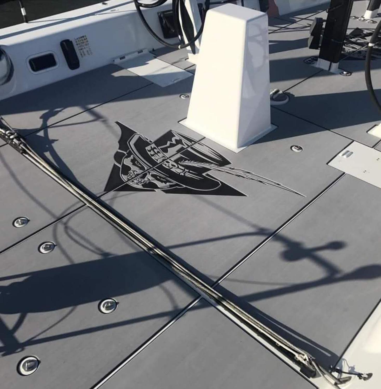 EVA Boat Teak Decking Sheet 90x240cm Marine Flooring Self Adhesive Carpet Solid Color Dark Grey Yacht Boats Accessories