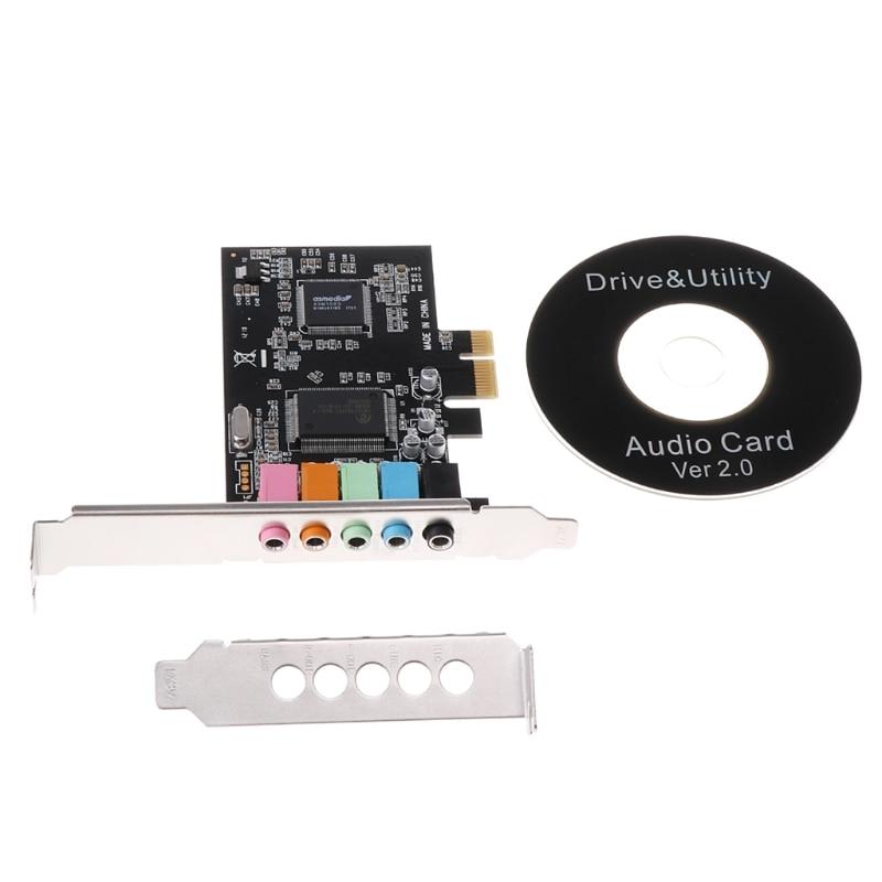 PCI-E Audio Digital Sound Card 5.1 Solid Capacitors CMI8738 Chipset + Barrier