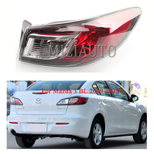Rear Tail Light Outer for Mazda 3 BL 2009-2013 Tail Light Assembly No Bulb Red Rear Brake Lamp Rear Bumper Light Reflector for chery a3 sedan reversing light rear tail lamp assembly brake light lamp tail light assembly