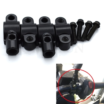 Universal Motorcycle 7/8 Handlebar Rearview Mirror Holder Mount Adapter Clamp for BMW K1600 K1300 K1200R K1200S R1200R R1200S image