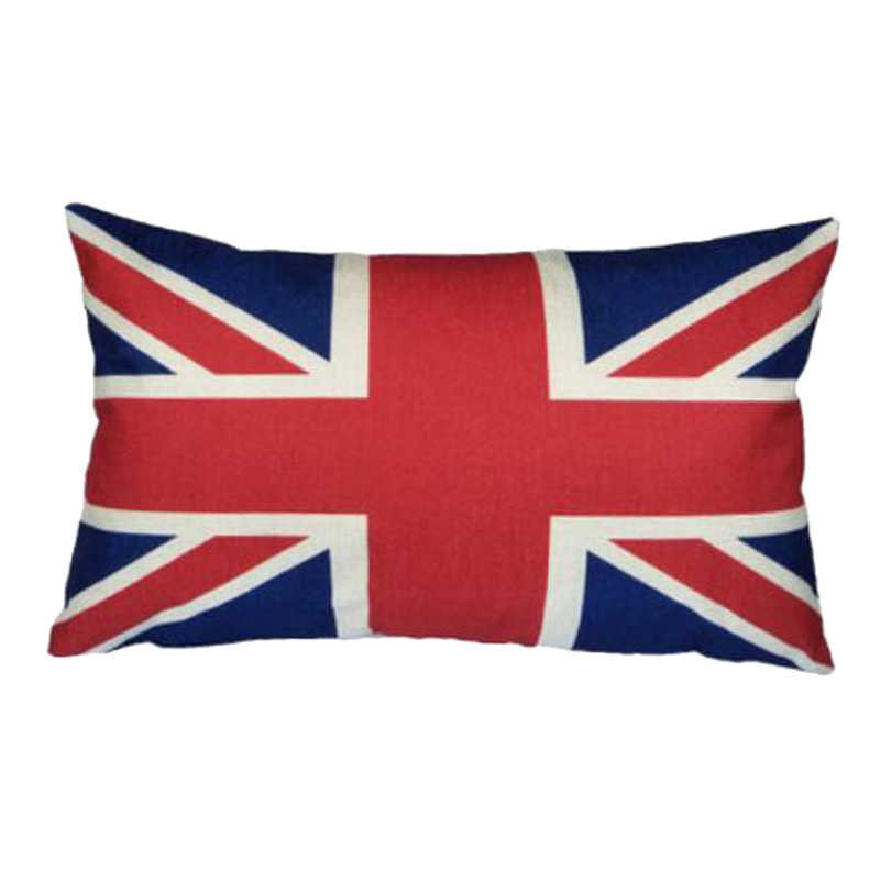 6578265e6d5 Hoomall 30 50cm Rectangle Cushion Cover Linen Square Flag Printed Pillow  Cover for Parents Waist