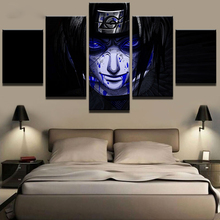 Naruto Uchiha Sasuke Anime 5 Piece Home Decor Canvas Modern HD Print Wall Art For Living Room Painting