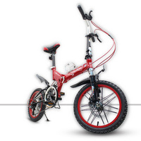 [TB05]16/14 inch pull wind micro mountain folding bike speed double shock male and female adult student bicycle