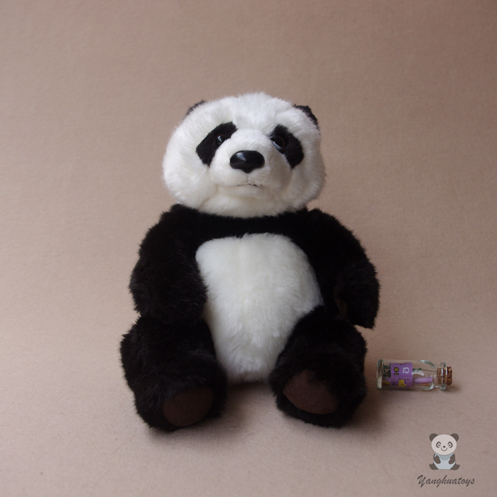 Peluş Panda Oyuncaq Simulyasiyası Panda Doll Doldurulmuş Oyuncaqlar Super Kawaii