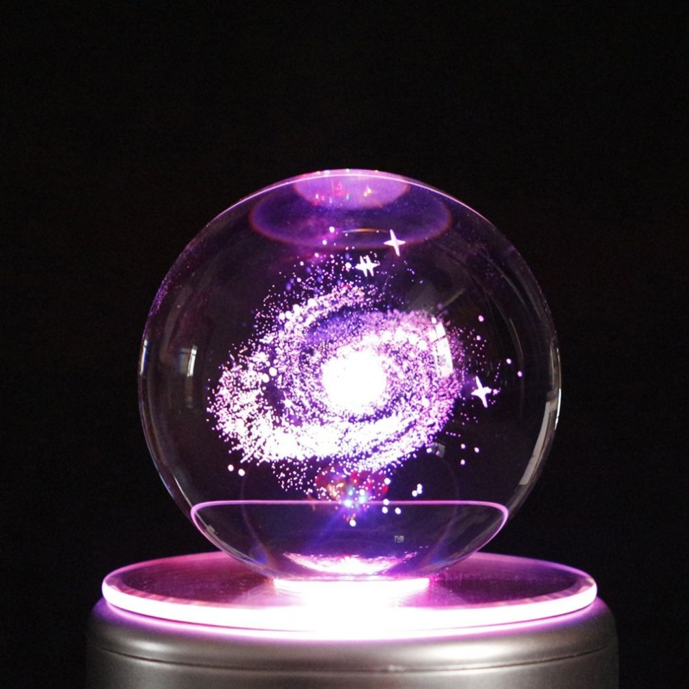 Galaxy Navidad LED Crystal Ball Music Box With 18 Music Home Decoration Flower Love Music Box Kids Toys Valentine Christmas Gift