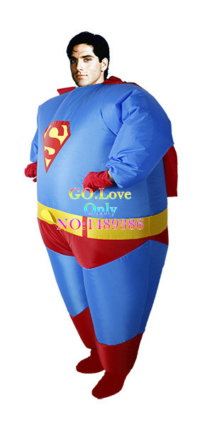 2015 New Arrive Halloween Costumes for Women Inflatable Fat Superman Party  Fancy Blow Up Dress Carnival Cosplay Superhero-in Men s Costumes from  Novelty ... a607bf36a