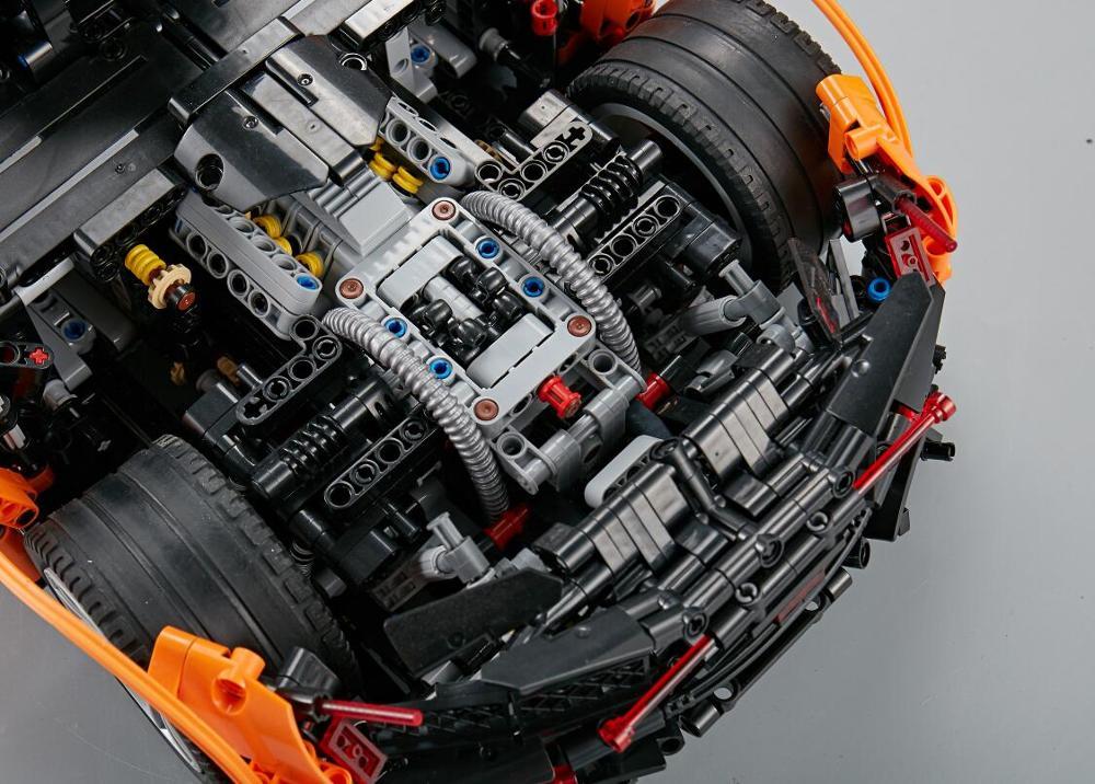 In Stock 13090 LEgoEDS Technic MOC 16915 P1 Orange Super Racing Car McLarening 20087 Building Blocks Hypercar Set Children Toys in Blocks from Toys Hobbies