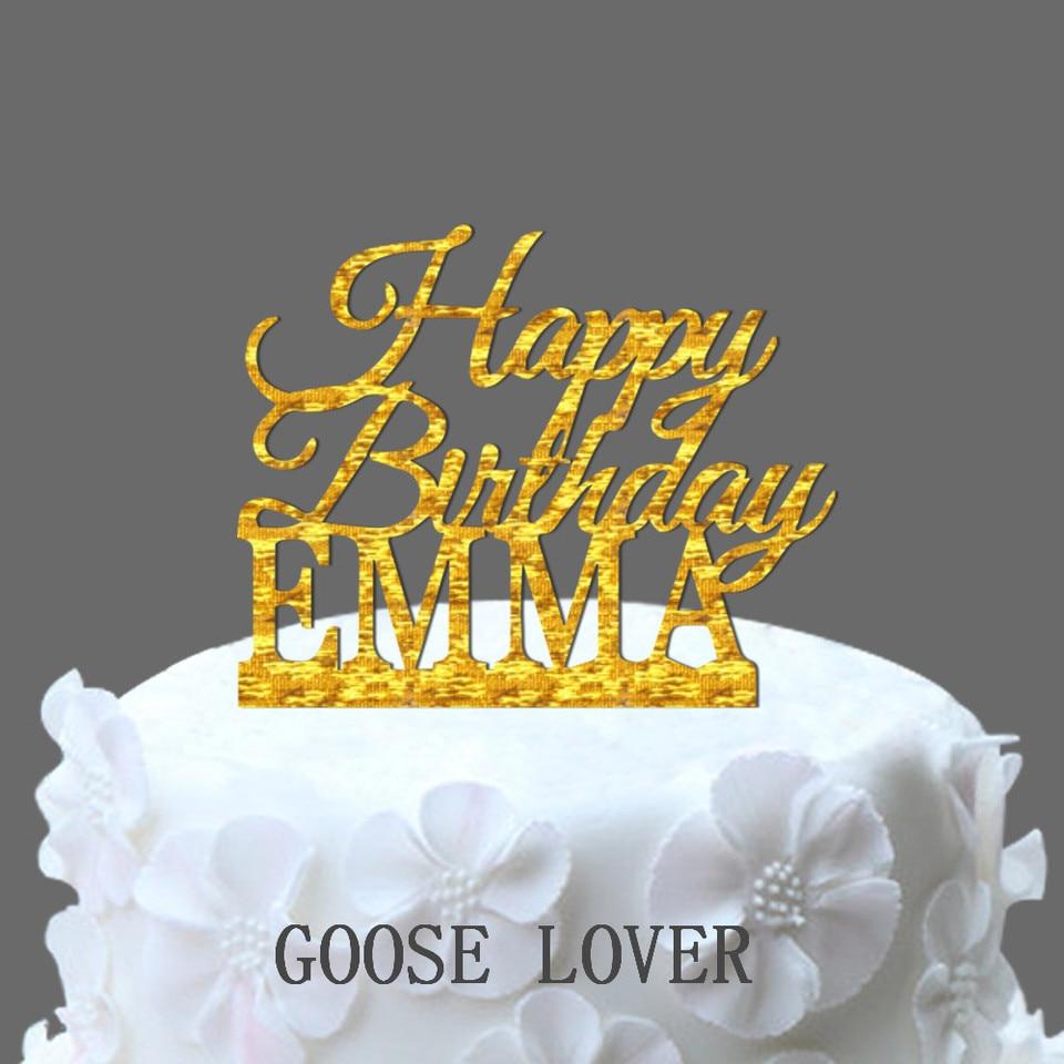 Stupendous Custom Name Happy Birthday Cake Topper Personalized Birthday Cake Birthday Cards Printable Opercafe Filternl