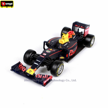 Bburago 1:43 Ferrari Red BullRB12 NO3 Simulation alloy super toy car model For  with Steering wheel control front steering