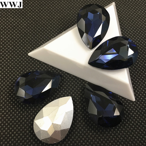 7x10mm.10x14mm.13x18mm.18x25mm.20x30mm Montana Color Teardrop Fancy Stone Glass Crystal Pear Drop Stones For Jewelry Making