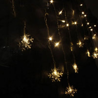 Icicle Snowflake LED Garlands 3 5M 96 LED Curtain Light Christmas Party Wedding Fairy String Light