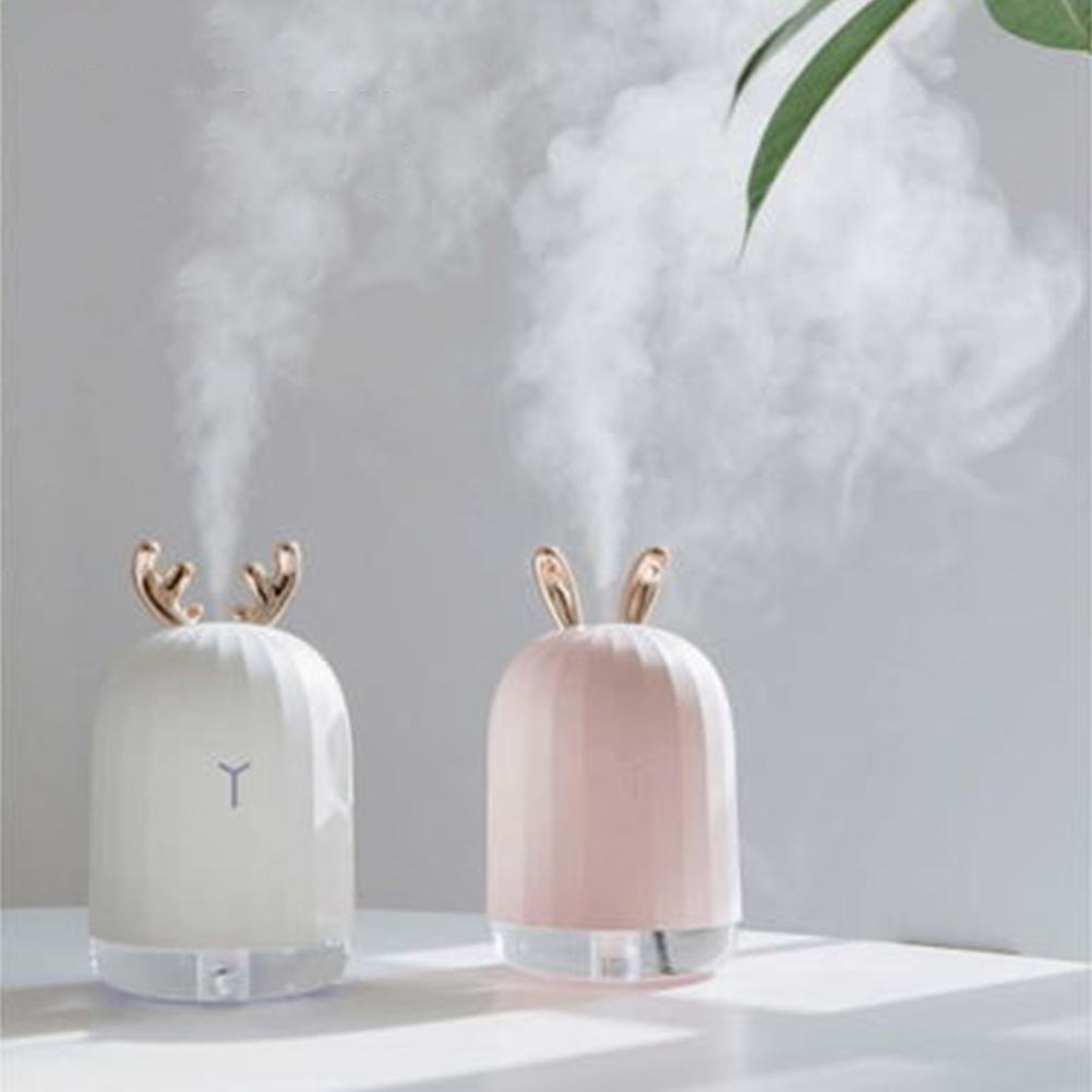 220ML Mini Air Humidifier with Colorful Night Light Essential Oil Diffuser Aromatherapy Household Humidifier Usb Diffusers bomeineng 220ml white deer mini air humidifier essential oil diffuser aromatherapy household ultrasonic humidifier usb diffusers