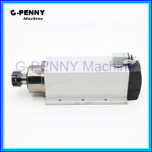 Image 4 - New Product  220V/380v 4.0KW CNC Air Cooled Spindle  ER25 Air Cooling motor spindle 4 bearings square spindle motor for CNC