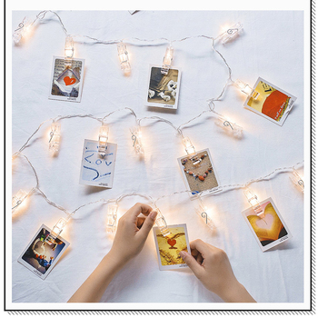 Card Picture Photo Clips Pegs led String Lights for Wedding party Garland Christmas Decoration Indoor Home Decor фото
