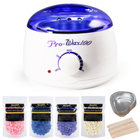 Hair Removal Electric Wax Warmer Machine Heater with 400g Wax Beans 10pcs Stickers 5pcs Wax Bowl Bikini Hair Removal Sets