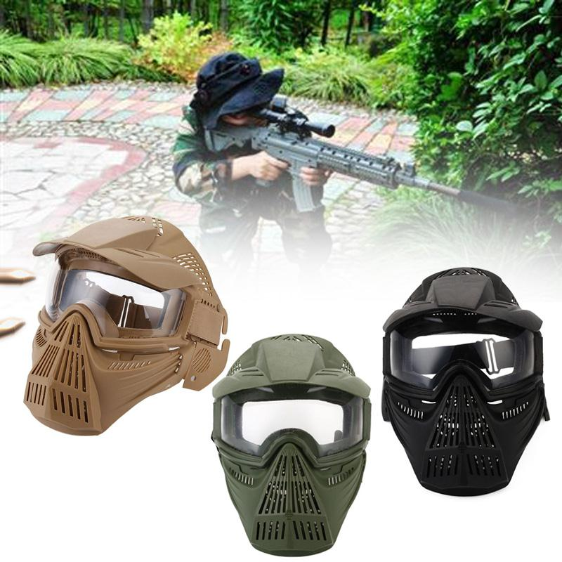 Wosport Hot Tactical Full Face Anti-fog Len Safe Mask With Goggle For Airsoft Military Paintball Hunting Accessories Sports & Entertainment