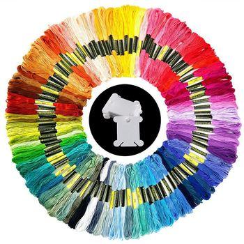 100 мотки вышивка нити случайной Цвета хлопок, мулине с 12 шт., бобины для Вязание, вышивка крестом Pro >> Decorating Your House Store