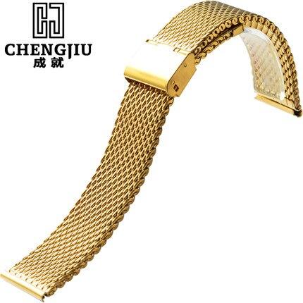 Steel Watch Band For Milanese For Patek Philippe Metal 18 20 22 24 mm Bracelet Belt Steel Strap Watchband Flat InterfaceBretelle patek philippe sky moon tourbillon в самаре