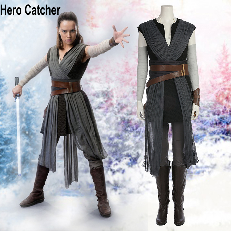 Hero Catcher High Quality New Star War Costume For Woman Rey Cosplay Costume New Rey Costume