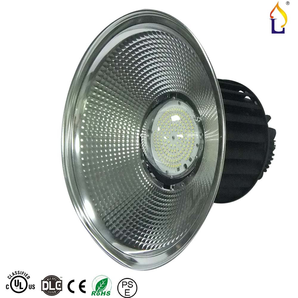 цены  5pcs/lot 100W 150W 200W Led High Bay Light 5 Years Warranty Industrial Fin Type SMD3030 100 or 60 degree With UL DLC AC100-277V
