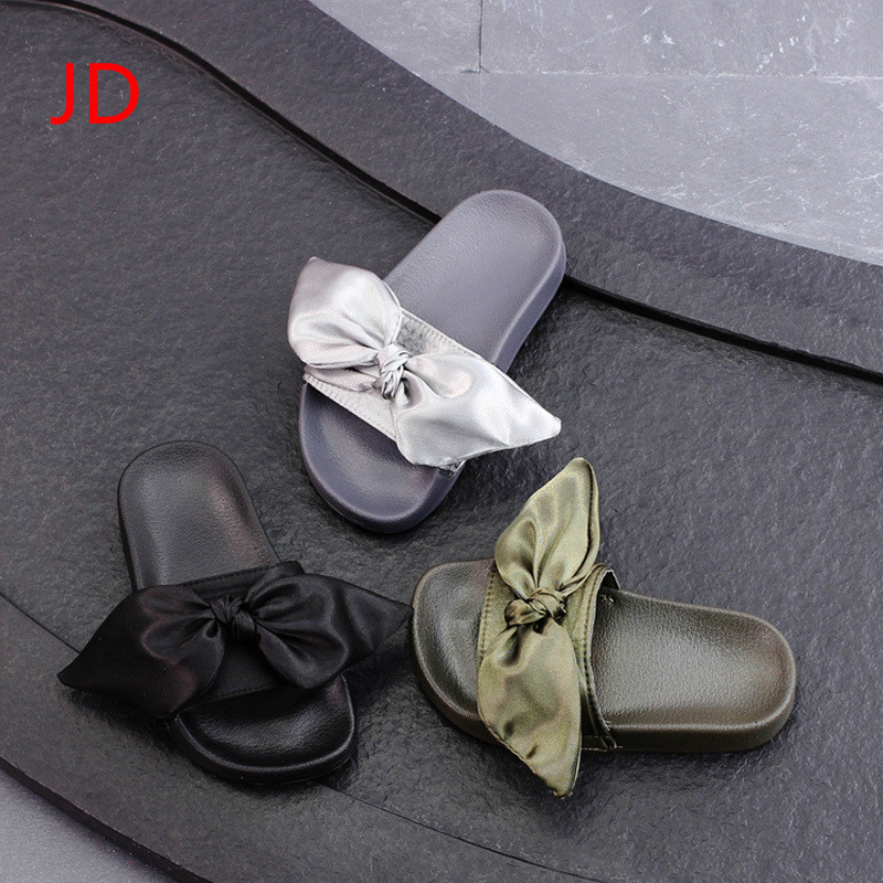 Summer, New Childrens Shoes, Girls Cool Slippers, Slippers, Fashion Butterflies, Word Drag, Casual Soft Soled Shoes JD