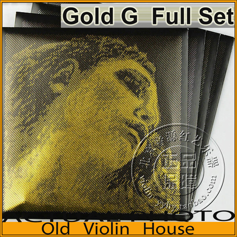 Original Pirastro Evah Pirazzi Gold Violin Strings Full Set - Gold G, For 4/4  ,made in Germany,Free shipping original savarez 500cj classical guitar strings full set nylon strings high tension free shipping