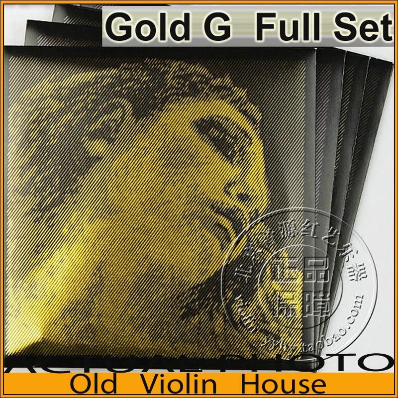 Original Pirastro Evah Pirazzi or violon cordes ensemble complet-or G, pour 4/4, fabriqué en allemagne, vente chaude