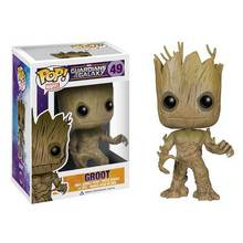 Funko POP Guardians Of the Galaxy Foguete Groot Groot Modelo Figura de Ação PVC Figuras Presentes brinquedos Figuras de Ação(China)