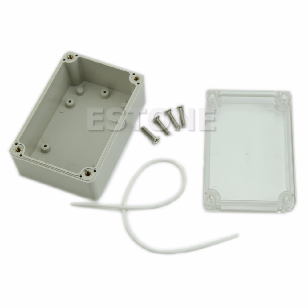 Hot Sale Plastic Waterproof Clear Cover Electronic Project Box Enclosure Case Waterproof Case New SEP_15