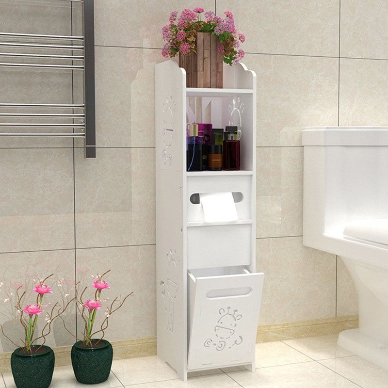 Fashion Bathroom Vanity Floor Standing Toilet Cabinet Folding Bathroom Storage Rack Washbasin Shower Corner Shelves