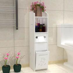 Модные Ванная комната Vanity Напольные Туалет Кабинета складной Ванная комната стеллаж для хранения умывальник Душ углу полки