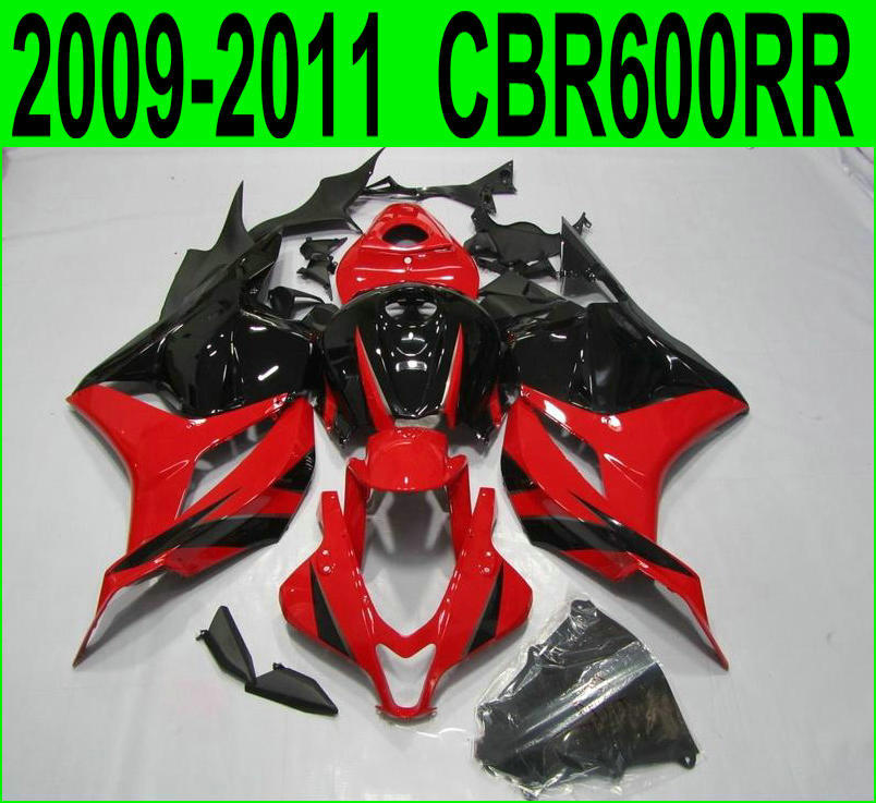 100% fit For Honda CBR600RR 2009 / 2011 / 2012 ( Black / red Fairings ) cbr 600rr 09 *10 11 Fairing kit SZ75