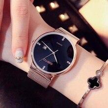 Women Watch GIMTO Quartz Clock Montre Femme Relogio Feminino Lady Bracelet Watch Elegant Thin Gold Bracelet Mesh Band Wristwatch