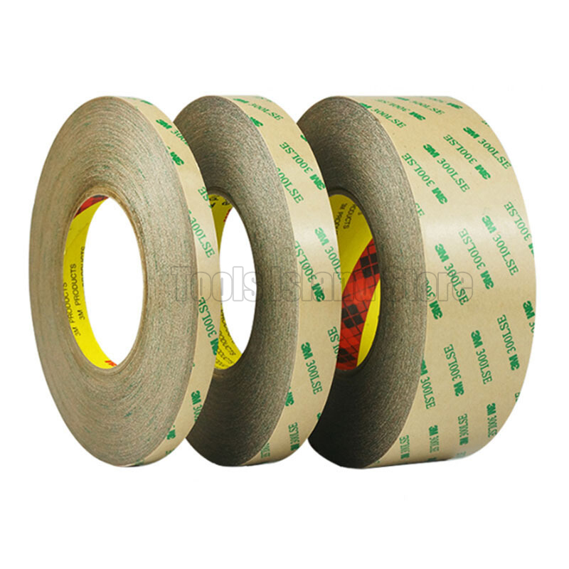 Promotion! 2mm/5mm/3mm/8mm Choose, 3M 300LSE Super Strong Double Sided Adhesive Heavy Duty Tape For LCD Lens Digitizer 55M