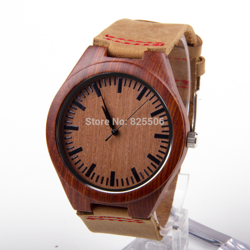 sandalwood womens wood red watches leather