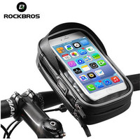 ROCKBROS Cycling Bike Bicycle Phone Bag 6 0 Inch MTB Frame Pouch Case Rainproof TPU Touch