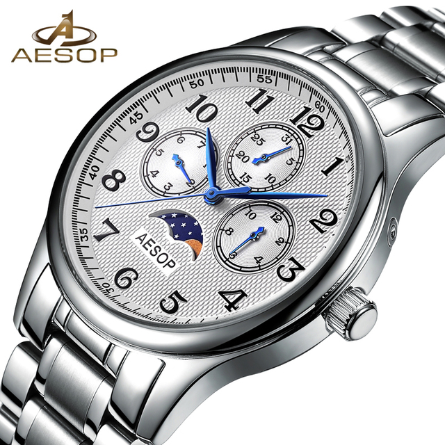 ade6ad45492 AESOP Fashion Men Watch Men Week Display Sapphire Crystal Quartz Wrist  Wristwatch Male Clock Relogio Masculino Hodinky Box 46