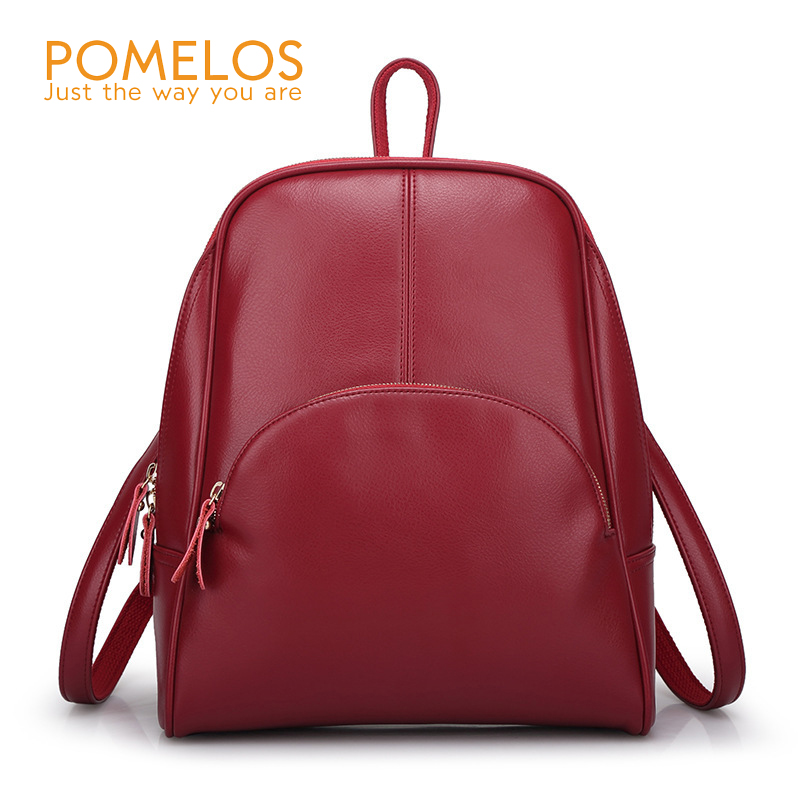 POMELOS Fashion Backpack Women Casual Soft Back Pack PU Leather Rucksack Female Ladies Travel Back Bag School Backpacks simple designer small backpack women white and black travel pu leather backpacks ladies fashion female rucksack school bags