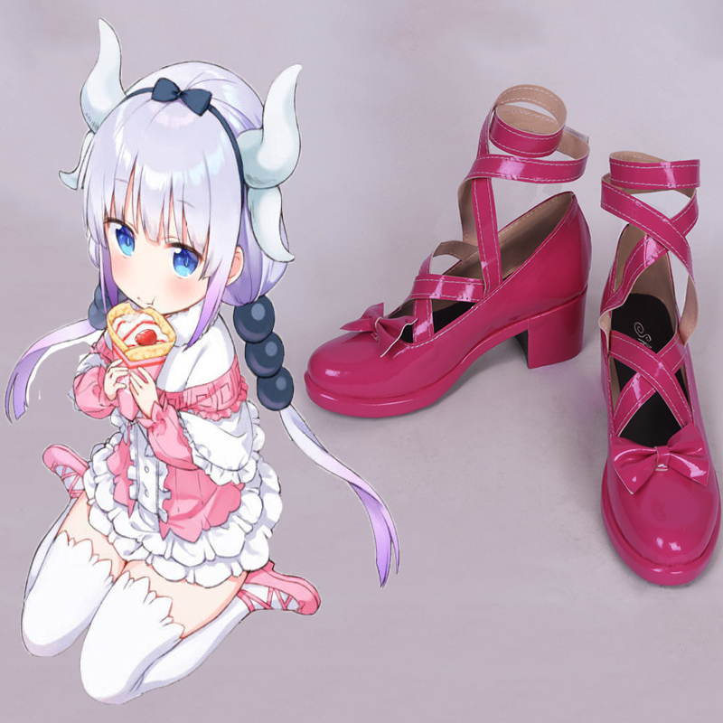 Anime Miss Kobayashis Dragon Maid Cosplay chaussures Kanna Kamui Cosplay chaussures bottes Halloween fête Cosplay Costumes quotidien chaussures