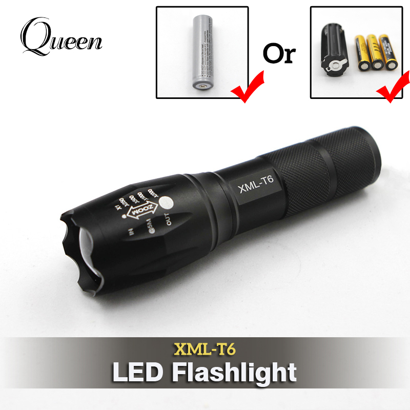 Powerful LED Flashlight 18650 Cree XML T6 Torch Searchlight Flash Light Lamp Waterproof Tactical Military Rechargeable Battery km 8014a cree q5 led handheld waterproof outdoor tactical flashlight torch long beam distance flashlight searchlight