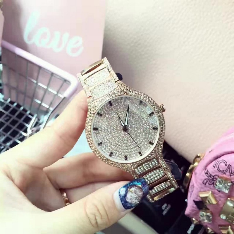 3 color brand Women Rhinestone Watches Rose Gold Dress Watches Full Diamond Crystal Women s Luxury