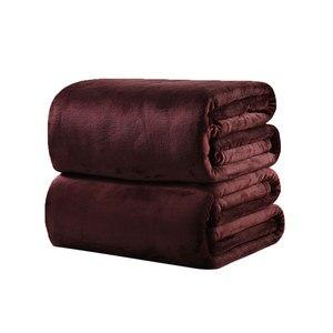 Image 2 - CAMMITEVER Manta de tela suave para el hogar, mantas de franela de Color sólido, muy cálidas, para sofá/cama/mantas de viaje, sábanas