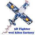 Бесплатная доставка высокое качество 3D истребитель воздушных змеев с ручкой линии ripstop нейлон ткань птица игрушки fly дети воздушных змеев завод оптовой