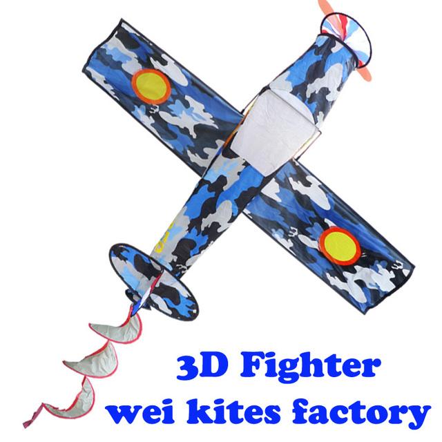 Envío de la alta calidad 3D línea de cometas de combate con mango de nylon ripstop tela pájaro juguetes niños fly cometas fábrica al por mayor