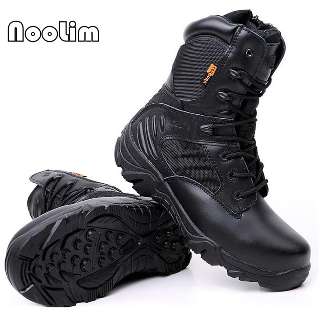 US $29.33 49% OFF|WinterAutumn Men Quality Brand Military Leather Boots Special Force Tactical Desert Combat Boats Outdoor Shoes Snow Boots in Work &