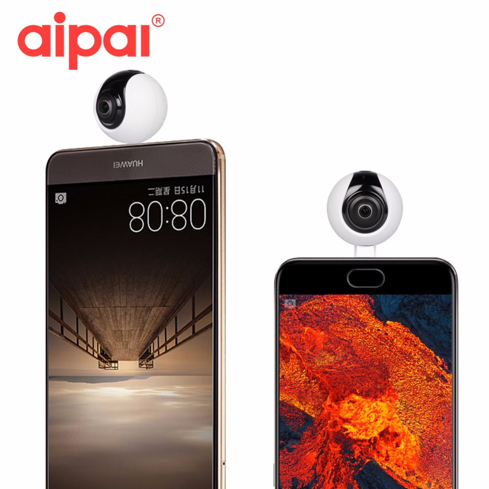 360 Degree Mini panoramic Camera 2048 1024 Ultra HD Video Wide Dual Angle Fish Eye Lens