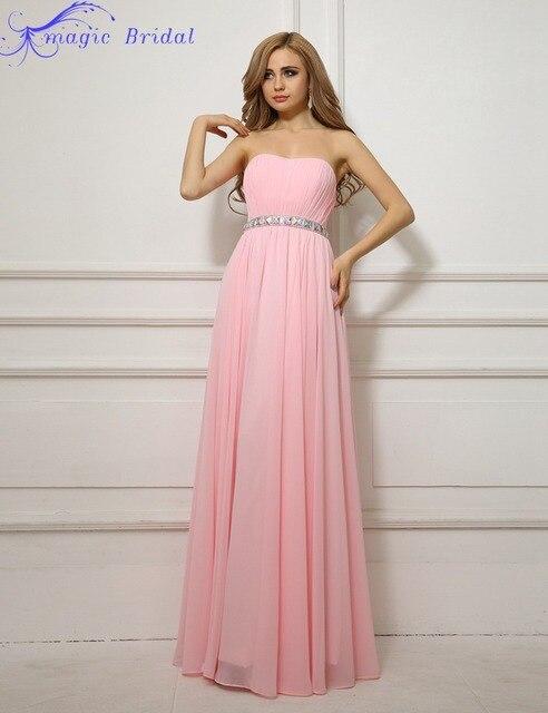 Perfecto Vestido Rosa Claro Sin Tirantes Del Baile Regalo - Ideas de ...