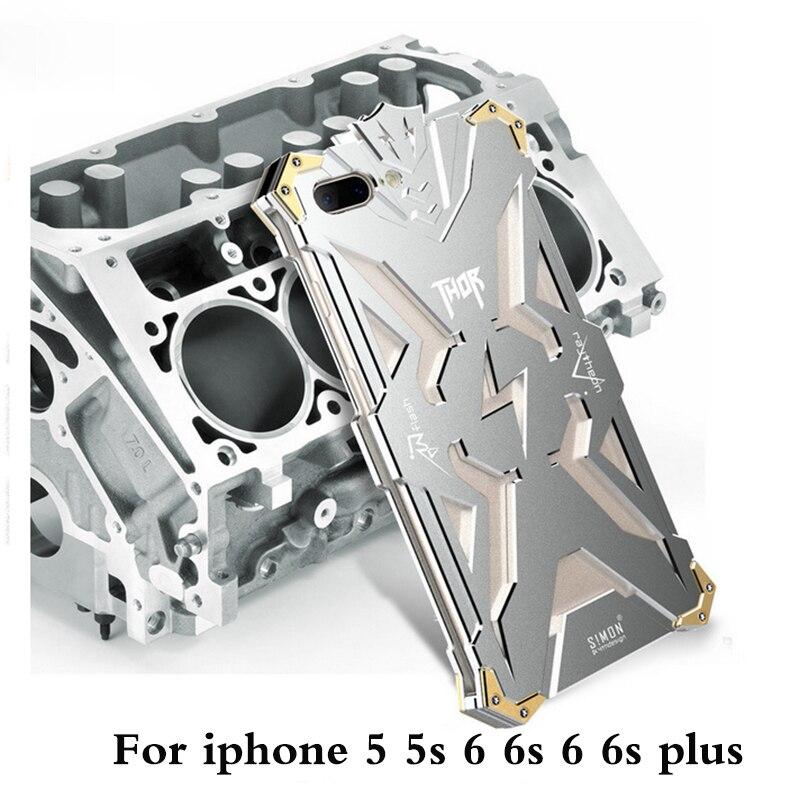 bilder für Original Zimon Design Metall Tough Rüstung THOR IRON MAN phone cases für iphone 5 5 s 6 6 s plus neue shockproof Aluminium-cover