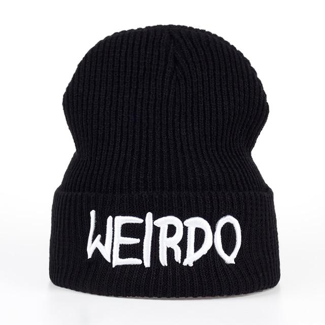 Модные Чудик вышивкой зимние мужские и женские теплые зимняя вязаная шапка бренд мальчик девочка Hat Casquette шапочки